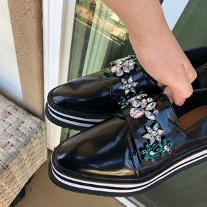 Zara Shoes - Zara Platform Studded Loafers
